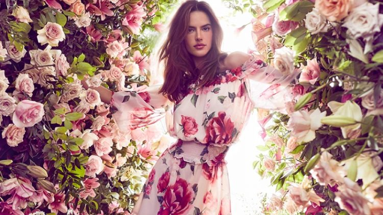 Alessandra Ambrosio Blooms for Love Republic Spring 2019 Campaign