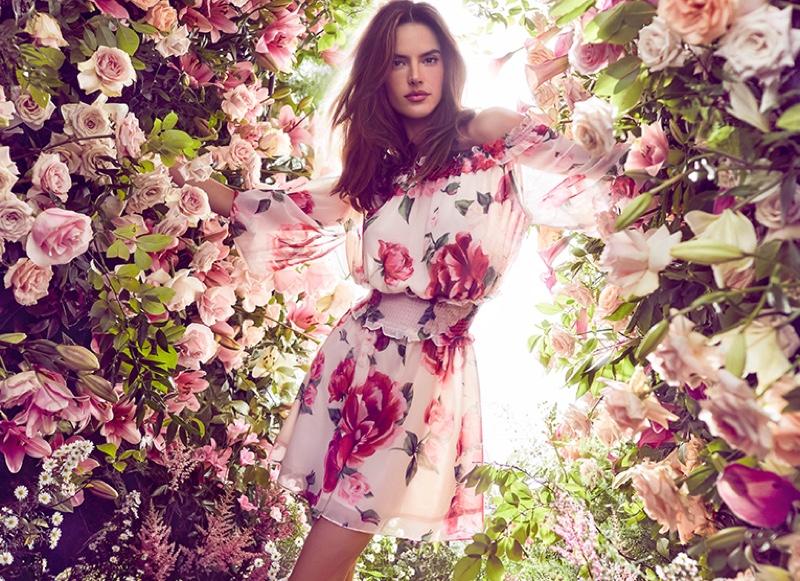 Alessandra Ambrosio Blooms for Love Republic Spring 2019 Campaign