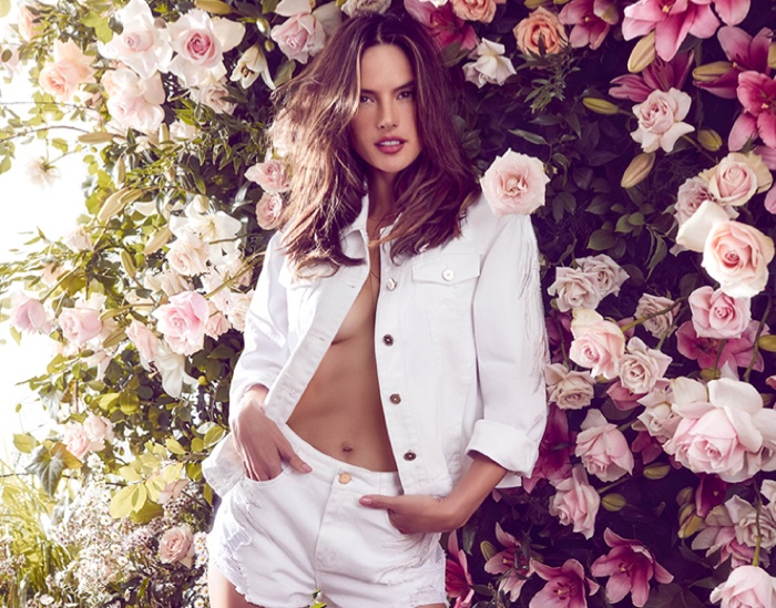 Alessandra Ambrosio dresses in white for Love Republic spring-summer 2019 campaign