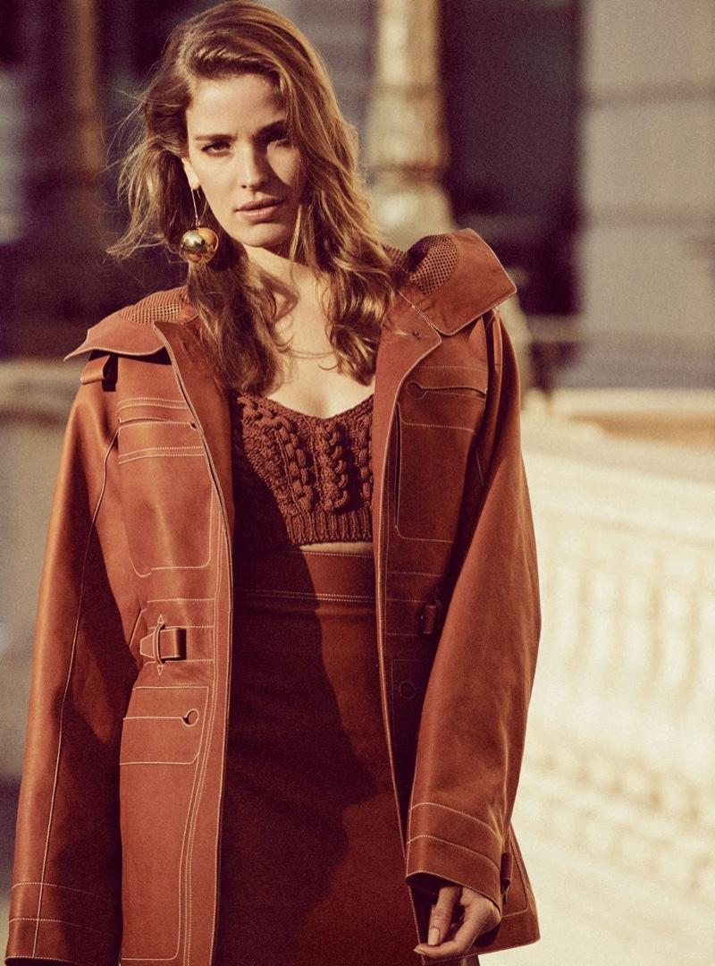 Alisa Ahmann Wears Elegant Neutrals in Harper's Bazaar UK