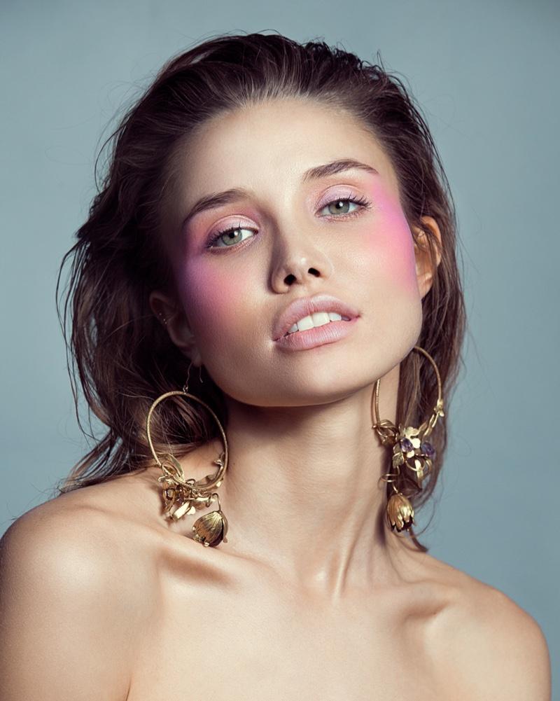 Anastasia Krivosheeva Is Pretty in Pink for Cosmopolitan Kazakhstan