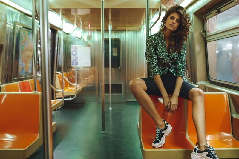 Antonina Petkovic Poses In Subway Styles for Harper's Bazaar
