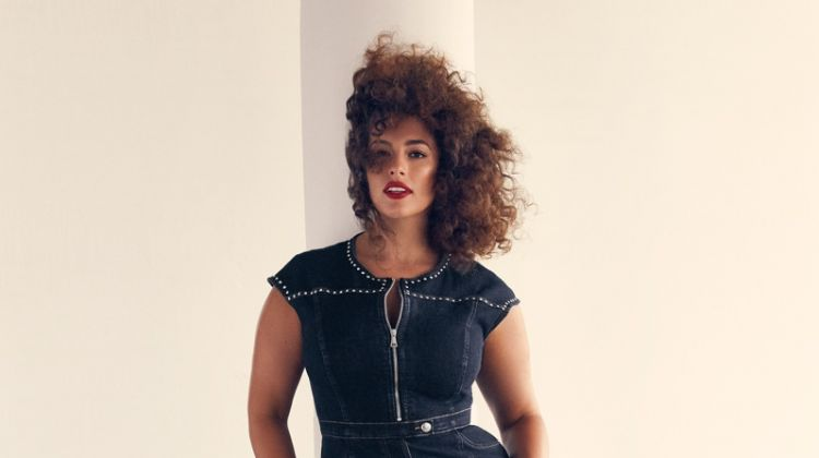 Flaunting her curves, Ashley Graham fronts Marina Rinaldi Denim spring-summer 2019