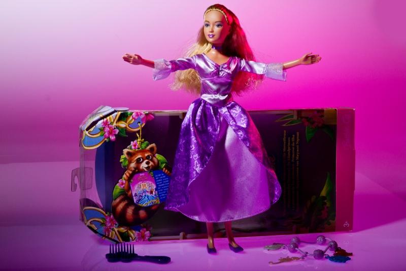 Barbie Doll in Purple Dress