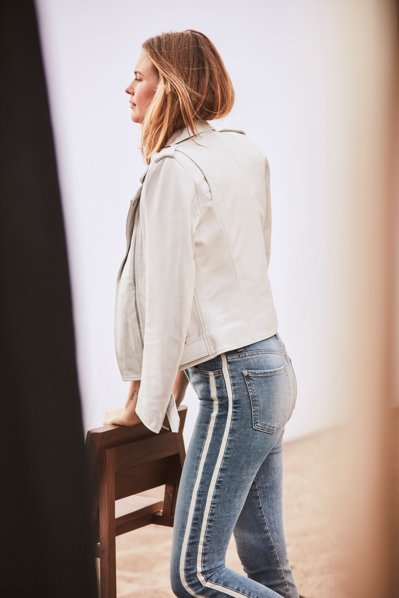 Model Behati Prinsloo appears in 7 For All Mankind spring-summer 2019 campaign