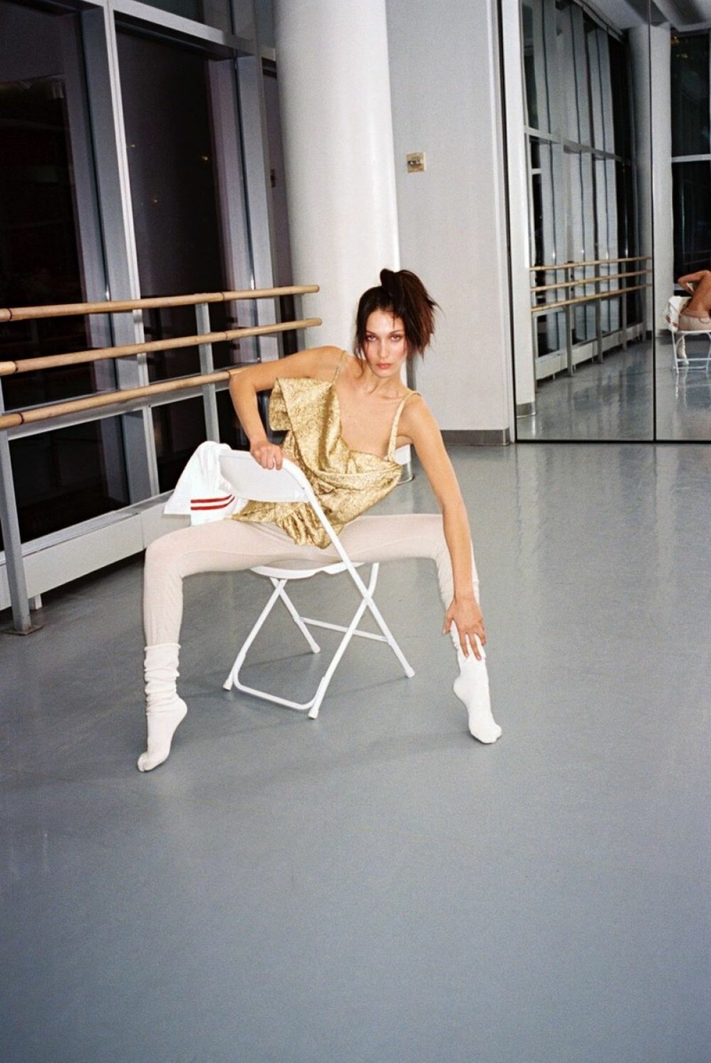Bella Hadid Models Dance Inspired Styles for Interview Magazine