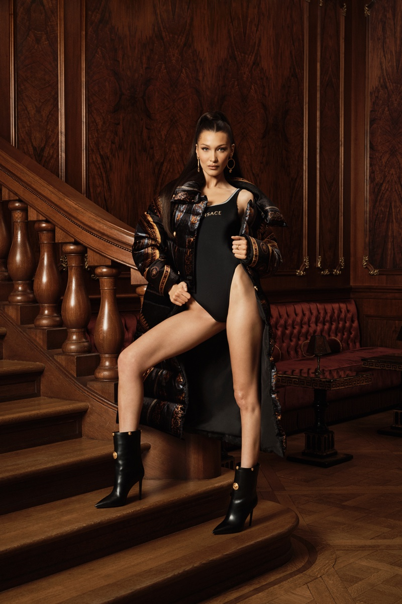 Bella Hadid stars in Kith x Versace campaign