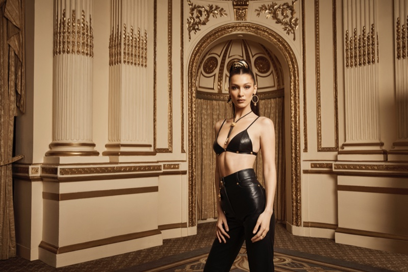Striking a pose, Bella Hadid fronts Kith x Versace campaign