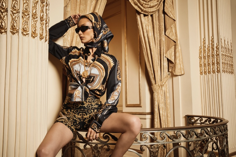 An image from the Kith x Versace advertising campaign
