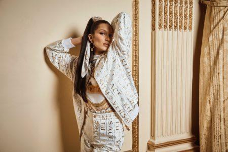 Bella Hadid Rocks Prints in Kith x Versace Campaign