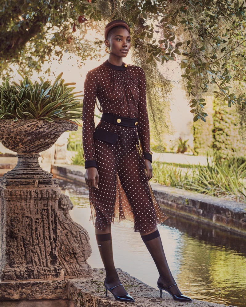 Bola Edun Models Chic Fashions for Bal Harbour
