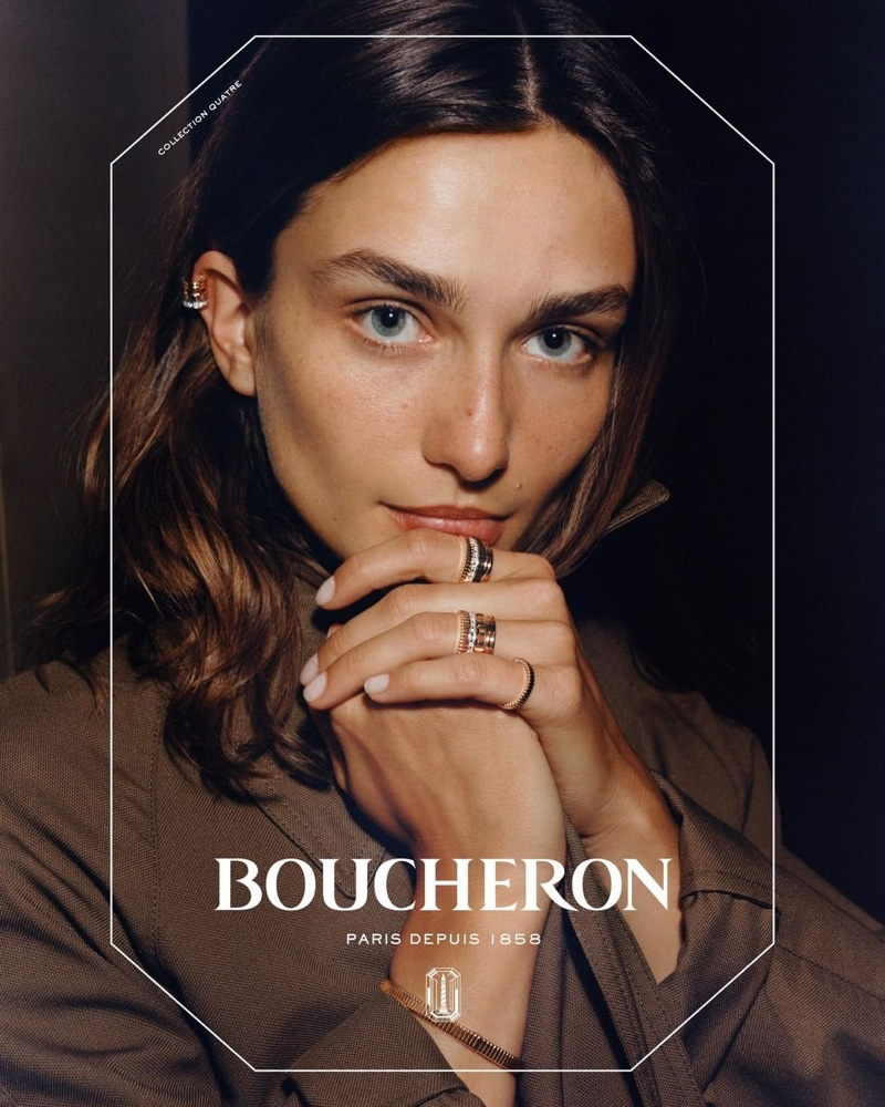 Andreea Diaconu stars in Boucheron jewelry campaign