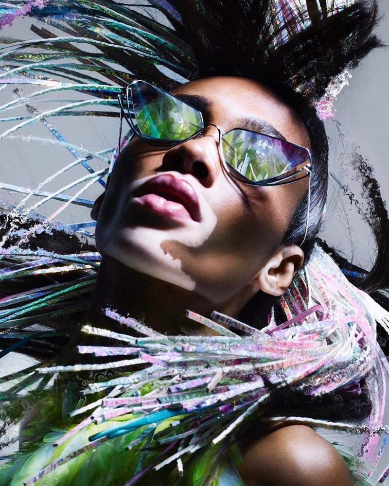 Getting her closeup, Winnie Harlow fronts Byblos eyewear spring 2019 campaign