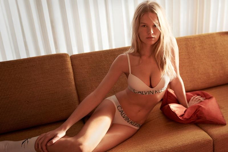 Anna Ewers fronts Calvin Klein #mycalvins spring-summer 2019 campaign
