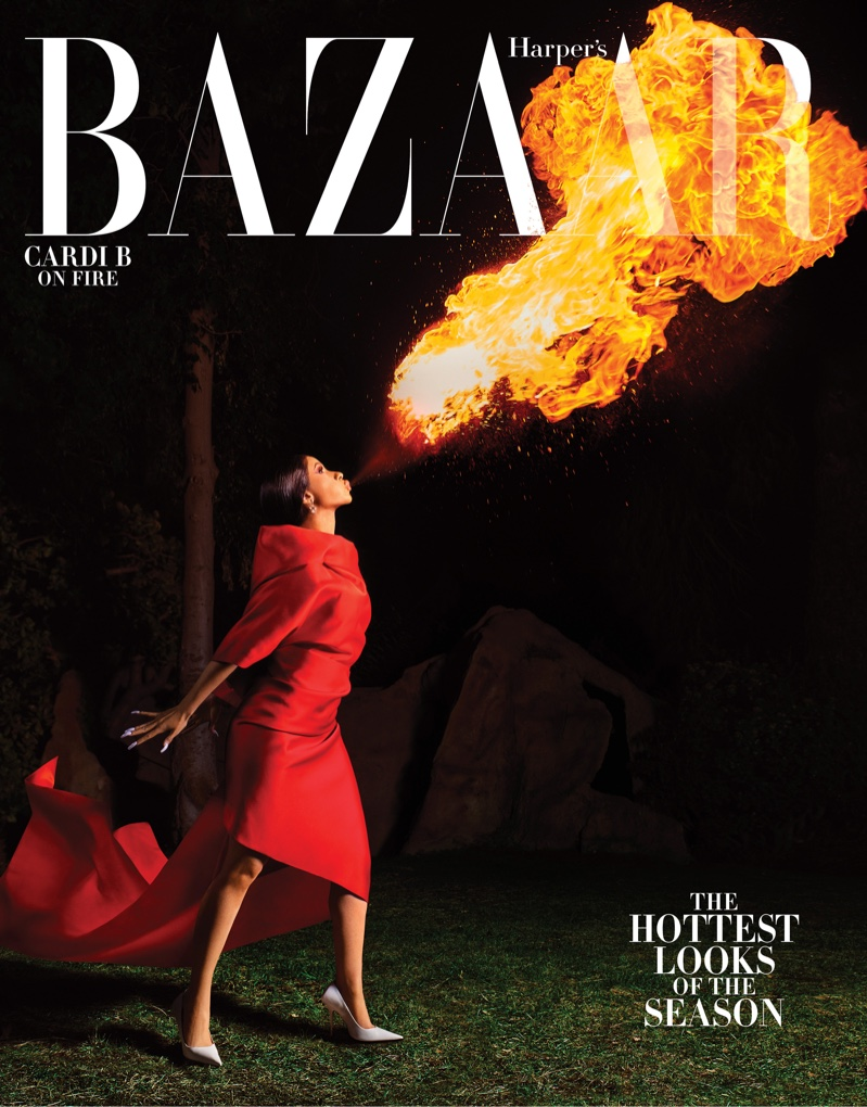 Cardi B on Harper's Bazaar US March 2019 Cover