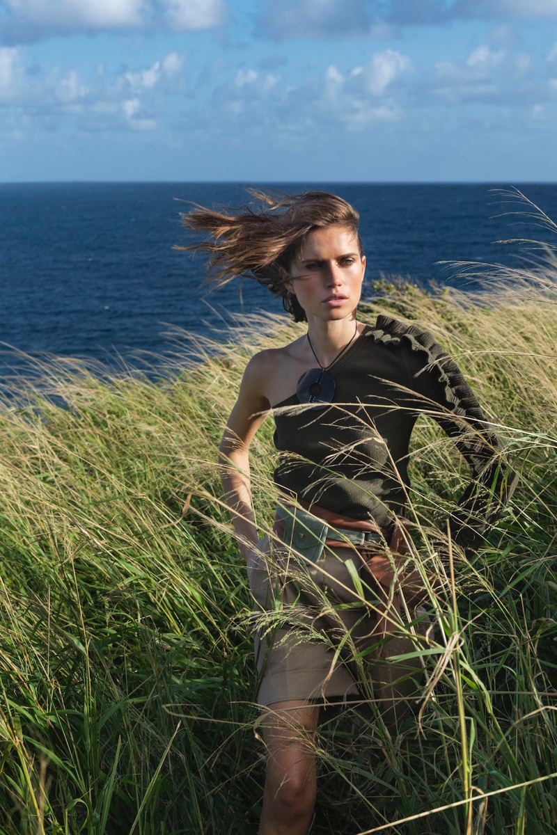Cato Van Ee Models Military Inspired Styles for ELLE Italy