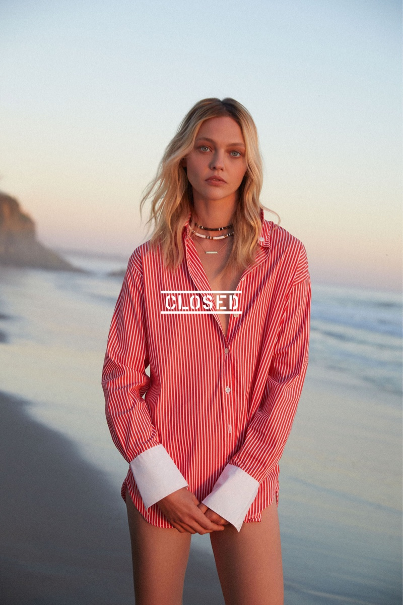 The Russian model appears in Closed spring-summer 2019 campaign