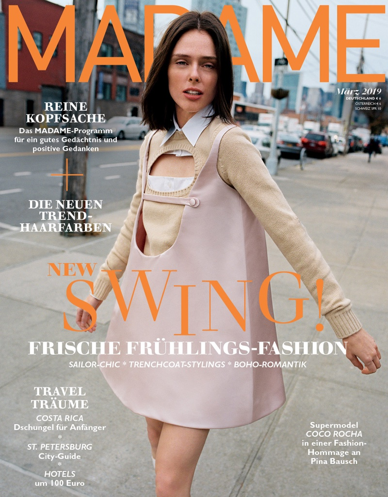 Coco Rocha Models Chic Looks for Madame Germany