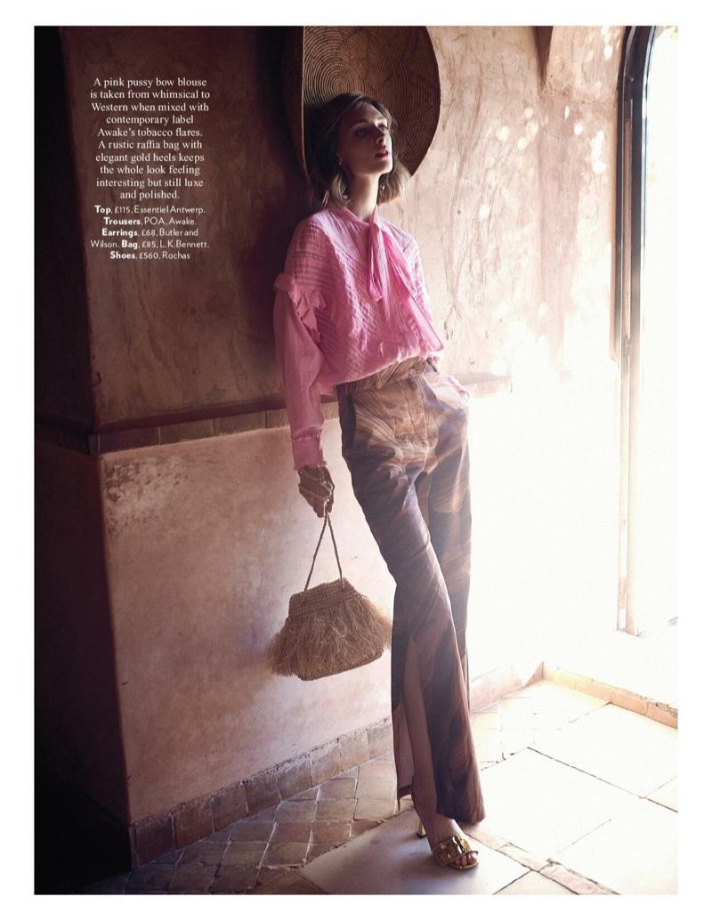 Daga Ziober Looks Pretty in Pastels for Red Magazine