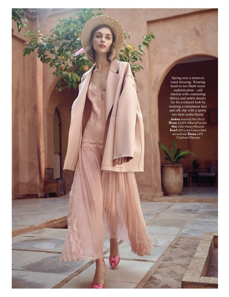 Daga Ziober Looks Pretty in Pastels for Red Magazine