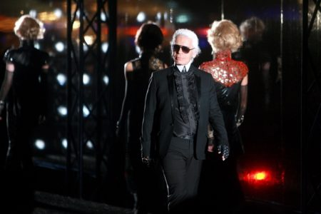 Karl Lagerfeld at Chanel Shanghai fashion show. Photo: Imaginechina-Editorial / Deposit Photos