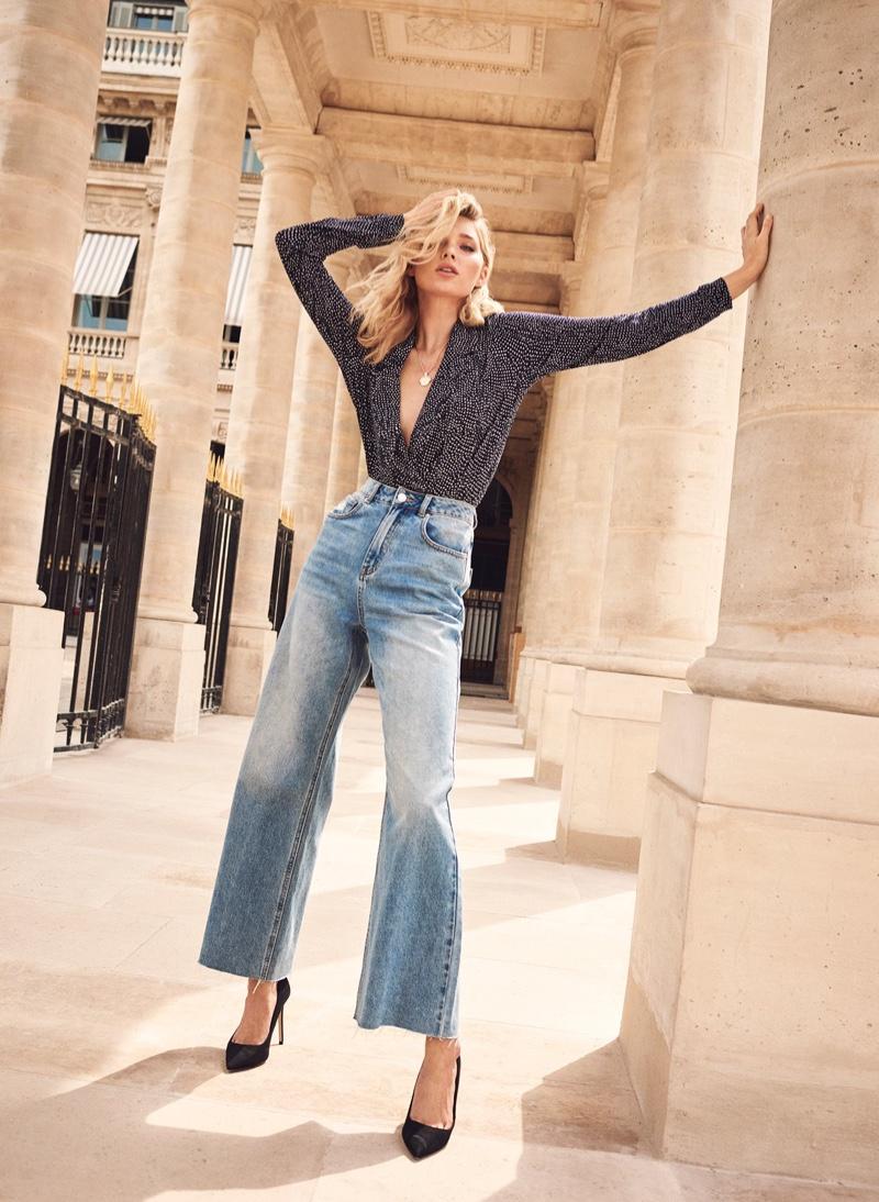 Elsa Hosk poses in Paris for Vero Moda spring-summer 2019 campaign