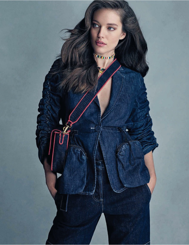 Emily DiDonato Models Cool Denim Styles for ELLE Italy
