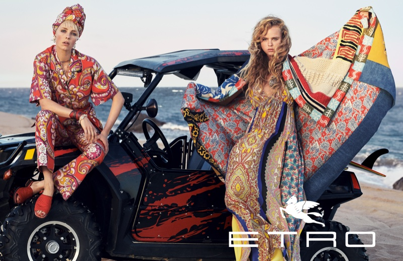 Edie Campbell and Olivia Vinten star in Etro spring-summer 2019 campaign