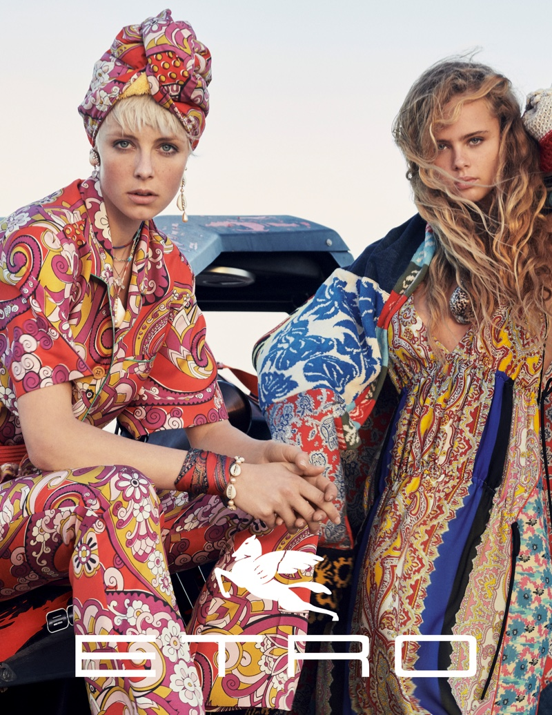 Etro spotlights bold prints for its spring 2019 campaign