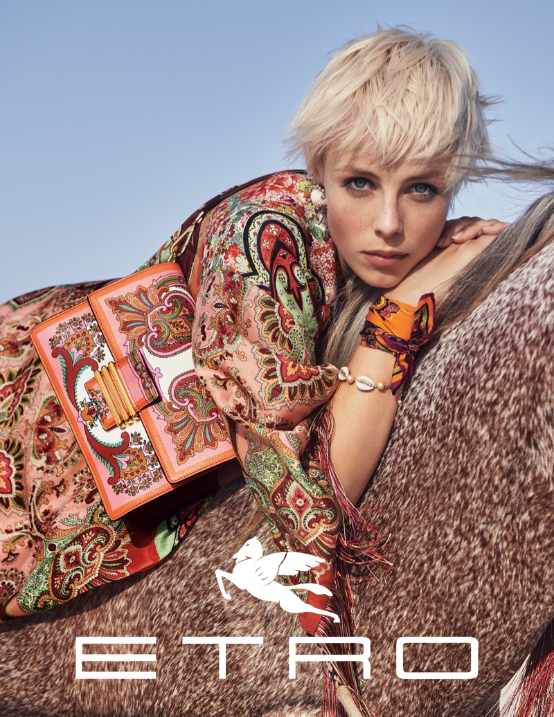 Edie Campbell fronts Etro spring-summer 2019 campaign