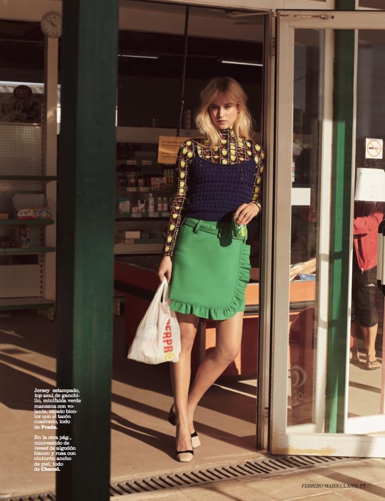 Eva Berzina Models Boho Style for Marie Claire Spain
