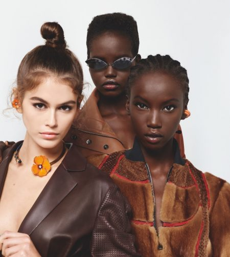 Kaia Gerber, Adut Akech and Anok Yai star in Fendi spring-summer 2019 campaign