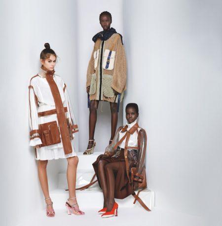 Kaia Gerber, Adut & Anok Star in Fendi Spring 2019 Campaign