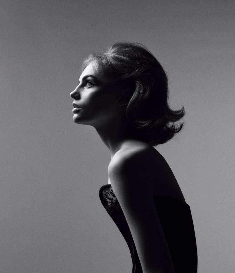Fran Summers Wows in Black & White for WSJ. Magazine