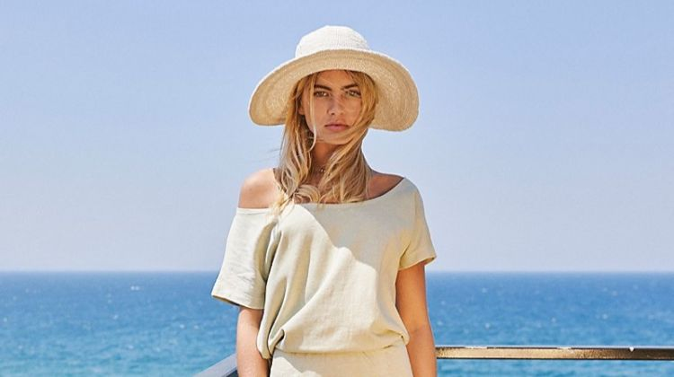 Free People Dana Crochet Bucket Hat $38 and Lily Dress $128
