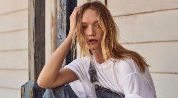 Gemma Ward Models Retro Denim Looks for Sunday Times Style