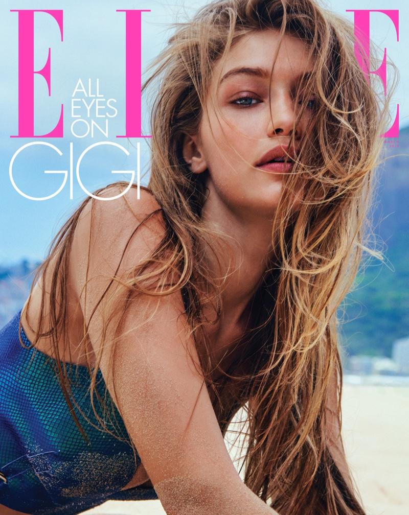 Gigi Hadid on ELLE US March 2019 Cover