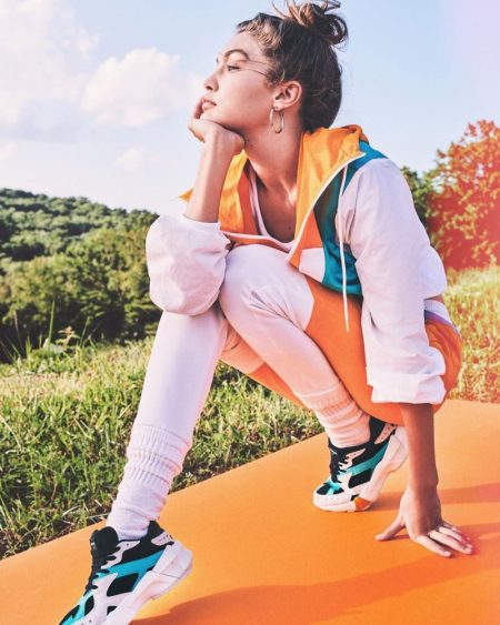 Gigi Hadid Looks Sporty Glam in Her Reebok Collaboration