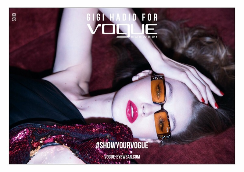 An image from the Gigi Hadid x Vogue Eyewear spring-summer 2019 campaign