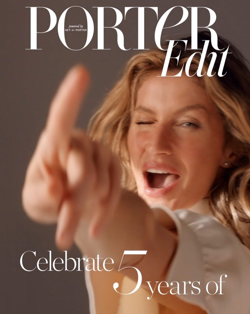 Gisele Bundchen Wears Elegant Styles for PORTER Edit