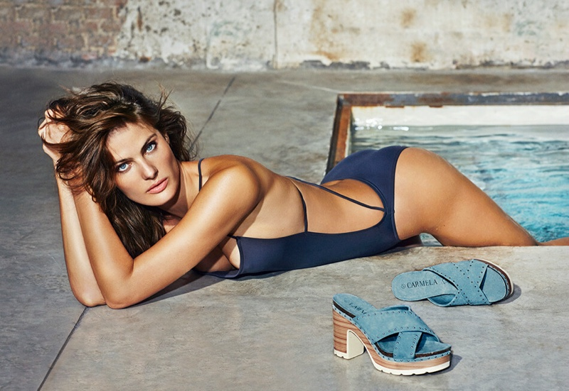 Wearing a swimsuit, Isabeli Fontana appears in Carmela spring-summer 2019 campaign