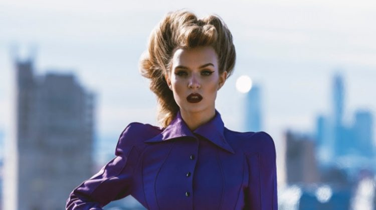 Josephine Skriver Gets Glam in Mugler for FASHION Magazine