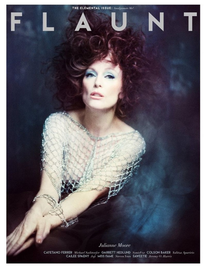 Julianne Moore on Flaunt Magazine The Element Issue 2019 Cover