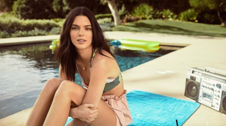 Posing by the pool, Kendall Jenner appears in Penshoppe spring-summer 2019 campaign