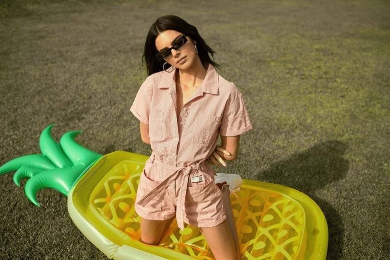 Kendall Jenner models a pink romper for Penshoppe spring-summer 2019 campaign