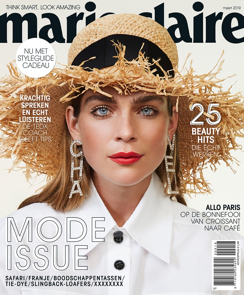 Kim Noorda Charms in Chanel for Marie Claire Netherlands
