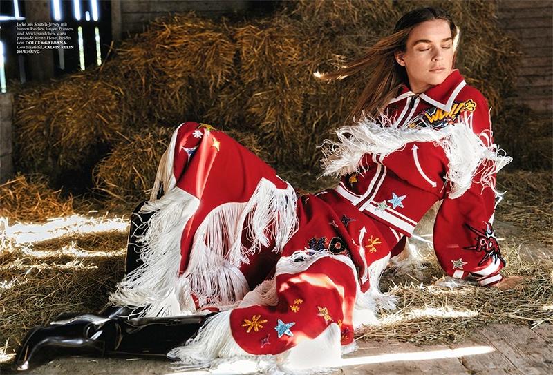 Kim Noorda is a Country Girl in Harper's Bazaar Germany