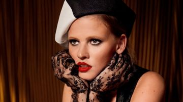 Lara Stone Poses in Elegant Fashions for InStyle