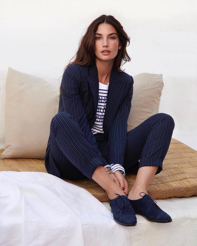 Suiting up, Lauren Ralph Lauren taps Lily Aldridge for spring-summer 2019 campaign
