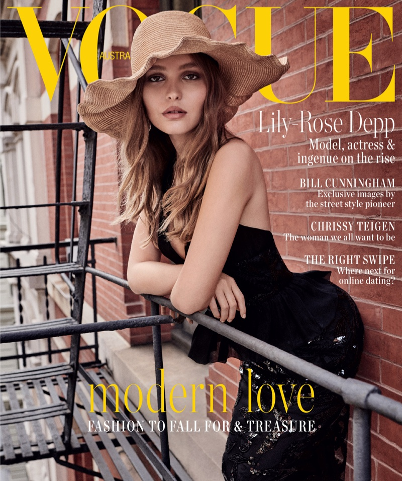 Lily-Rose Depp on Vogue Australia February 2019 Cover